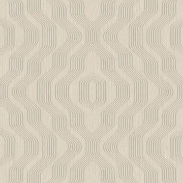 Geometric Modern Luxury Satin Taupe Swerve Wallpaper R3755