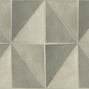 Gradient Geometric Tiles Wallpaper Grey and White R4768