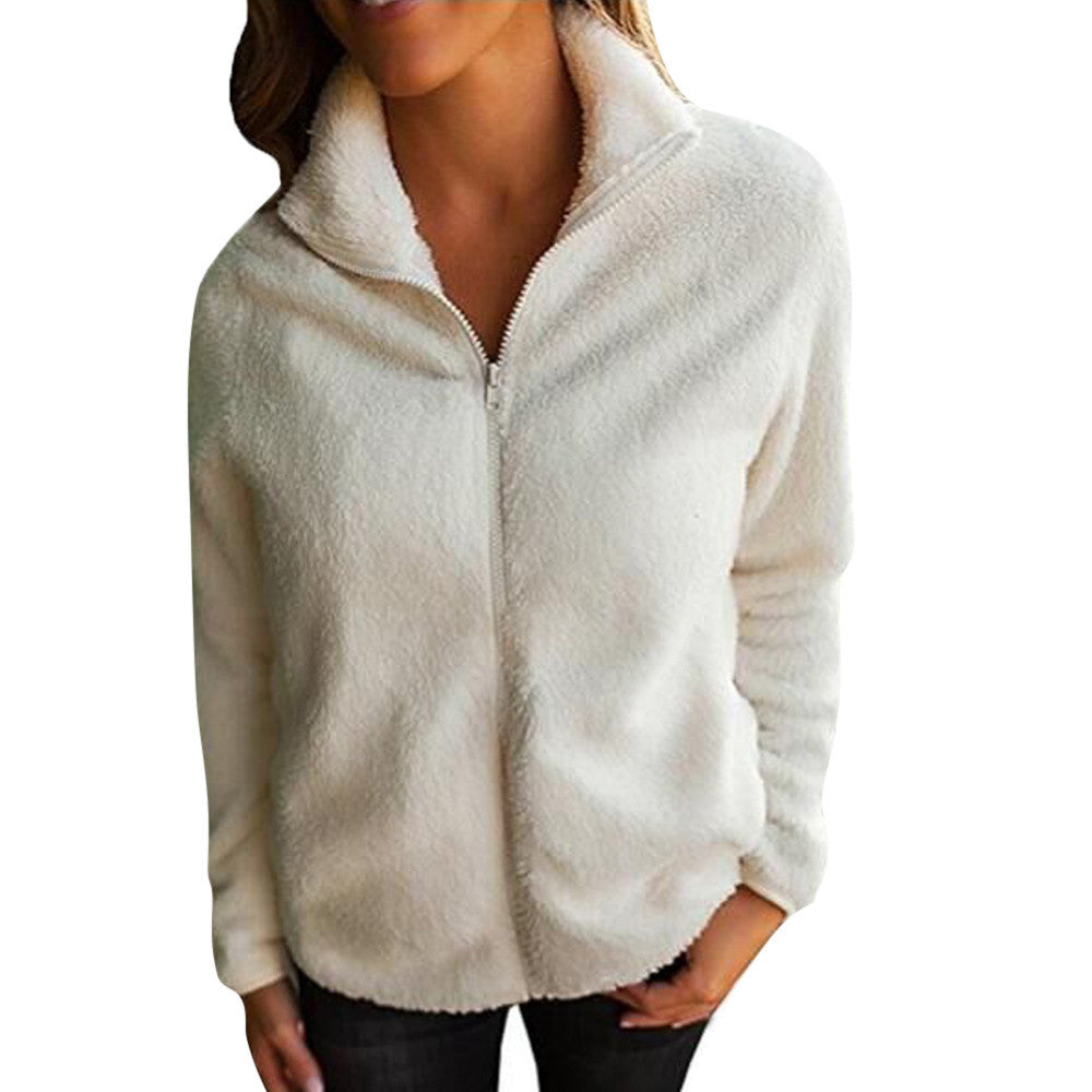 Women Sweater Coat Winter Warm 1/4 Button Outfits Pullover Coat Coat Outwear