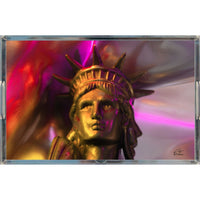 In Love with New York 'Liberty In Gold' Tray