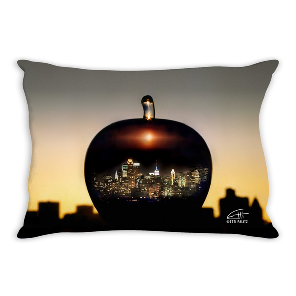 In Love with New York 'Big Apple' Decorative Lumber Pillow