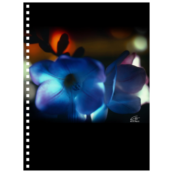 Flowers After Dark 'Blue Freesia' Notebook