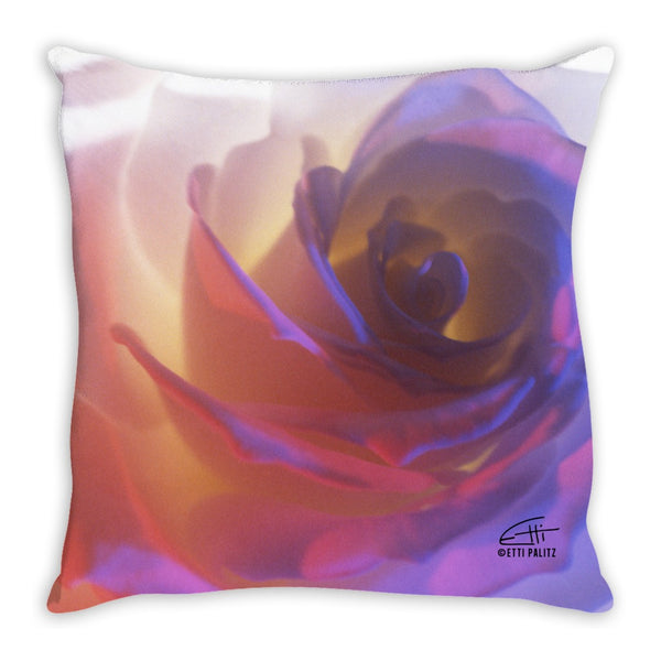 Flowers After Dark 'Electric Rose' Decorative Pillow
