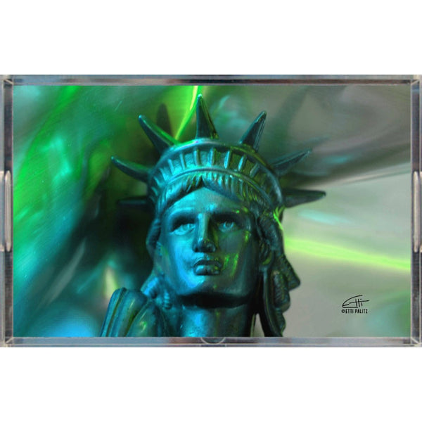 In Love with New York 'Liberty In Green' Tray