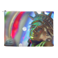 In Love with New York 'Ms Liberty' Canvas Cosmetic Clutch