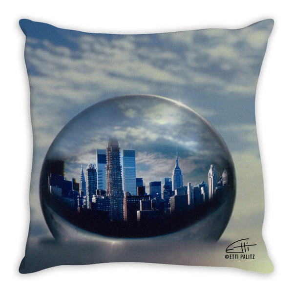 In Love with New York 'Planet NY' Decorative Pillow