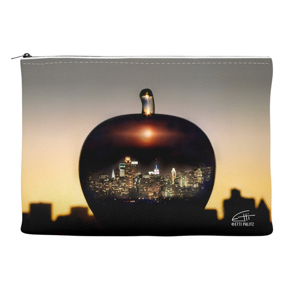 In Love with New York 'Big Apple' Canvas Cosmetic Clutch
