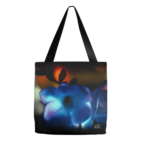 Flowers After Dark 'Blue Freesia' Tote Bag