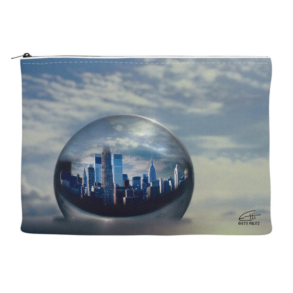In Love with New York 'Planet NY' Canvas Cosmetic Clutch