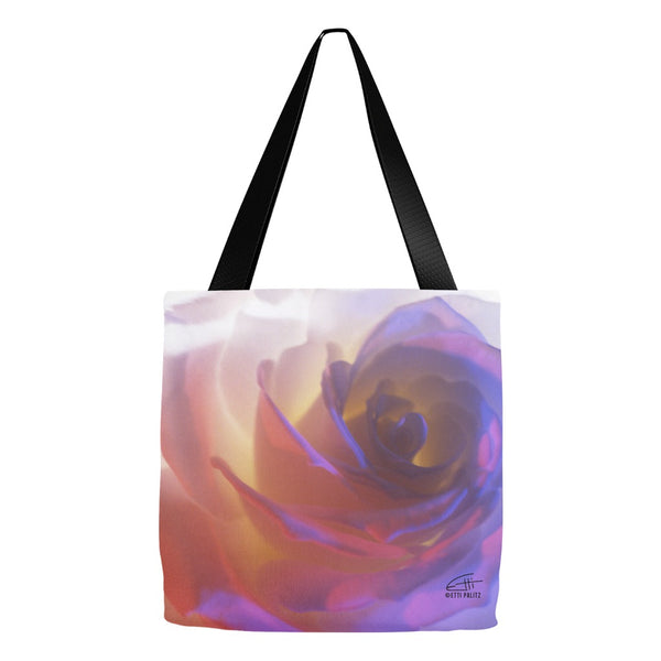 Flowers After Dark 'Electric Rose' Tote Bag