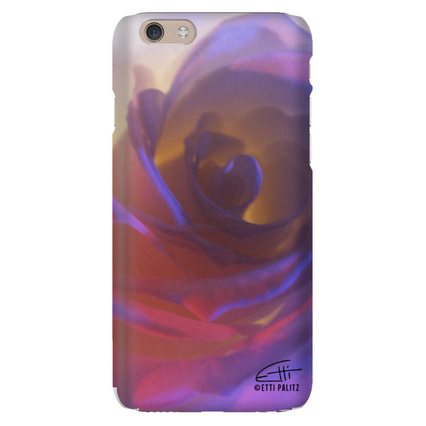 Flowers After Dark 'Electric Rose' Premium Glossy Phone Case