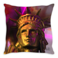 In Love with New York 'Liberty In Gold' Decorative Pillow