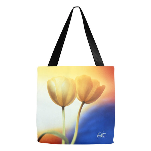 Flowers After Dark 'Touching' Tote Bag