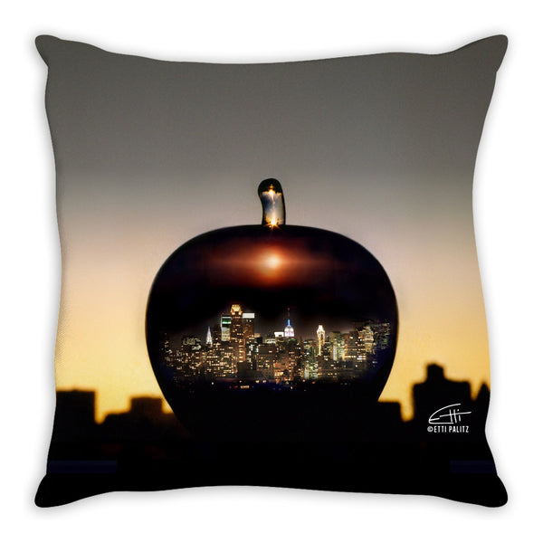 In Love with New York 'Big Apple' Decorative Pillow