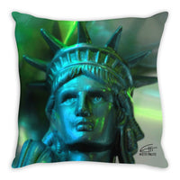 In Love with New York 'Liberty In Green' Decorative Pillow
