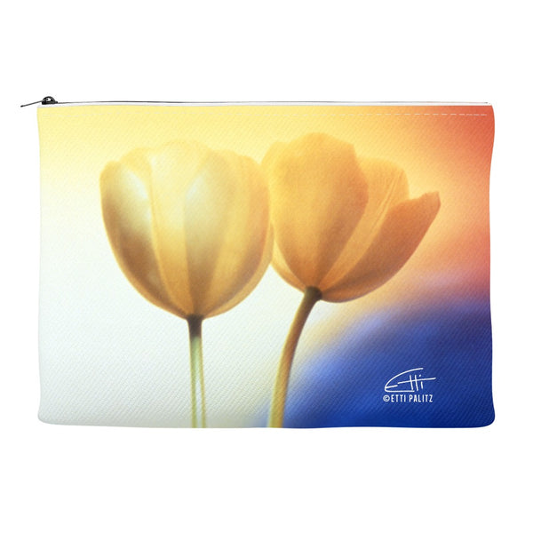 Flowers After Dark 'Touching' Canvas Cosmetic Clutch
