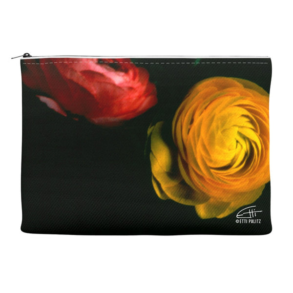 Flowers After Dark 'Duet' Canvas Cosmetic Clutch