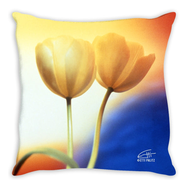 Flowers After Dark 'Touching' Decorative Pillow