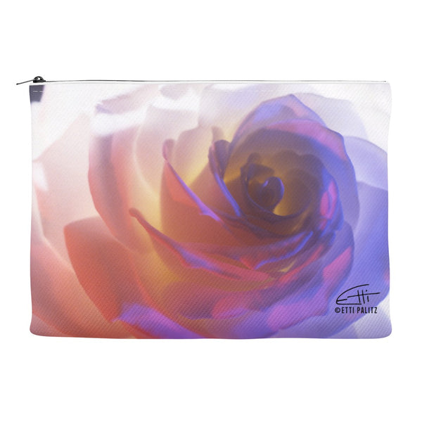 Flowers After Dark 'Electric Rose' Canvas Cosmetic Clutch