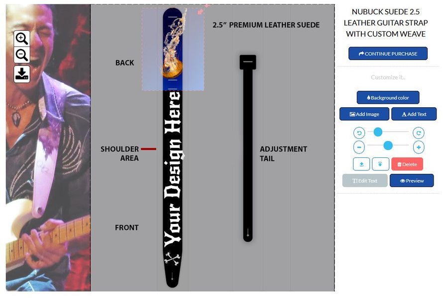 StrapGraphics has a new guitar strap designer