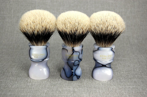 FACTORY SECONDS - Finest Badger Shave Brush (Marble Handle) - 24mm x 54mm