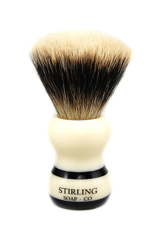 Finest Badger Shave Brush - 24mm Fan Knot (Black Striped)