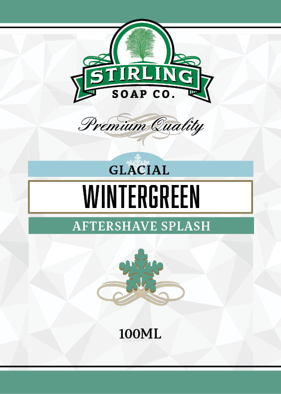Glacial, Wintergreen - 100ml Aftershave Splash