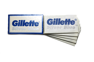 Gillette Silver Blue Razor Blades (1 Pack of 5 Blades)