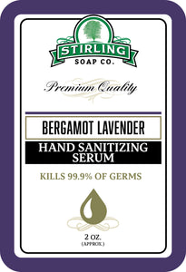 Bergamot Lavender - Hand Sanitizing Serum (2oz Squeeze Bottle)