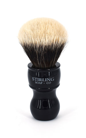 2-Band Finest Badger Shave Brush - 24mm x 57mm (Black)