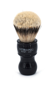 High Mountain White Badger Shave Brush - 24mm x 53mm (Black)