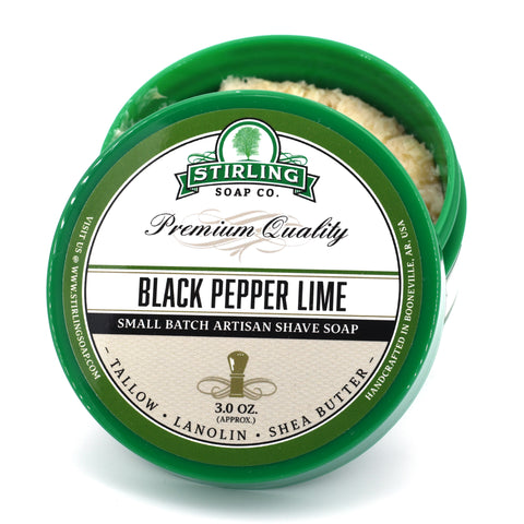 Black Pepper Lime - Shave Soap (3oz)