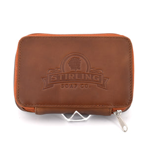 Premium Leather Razor/Blade Case - Caramel