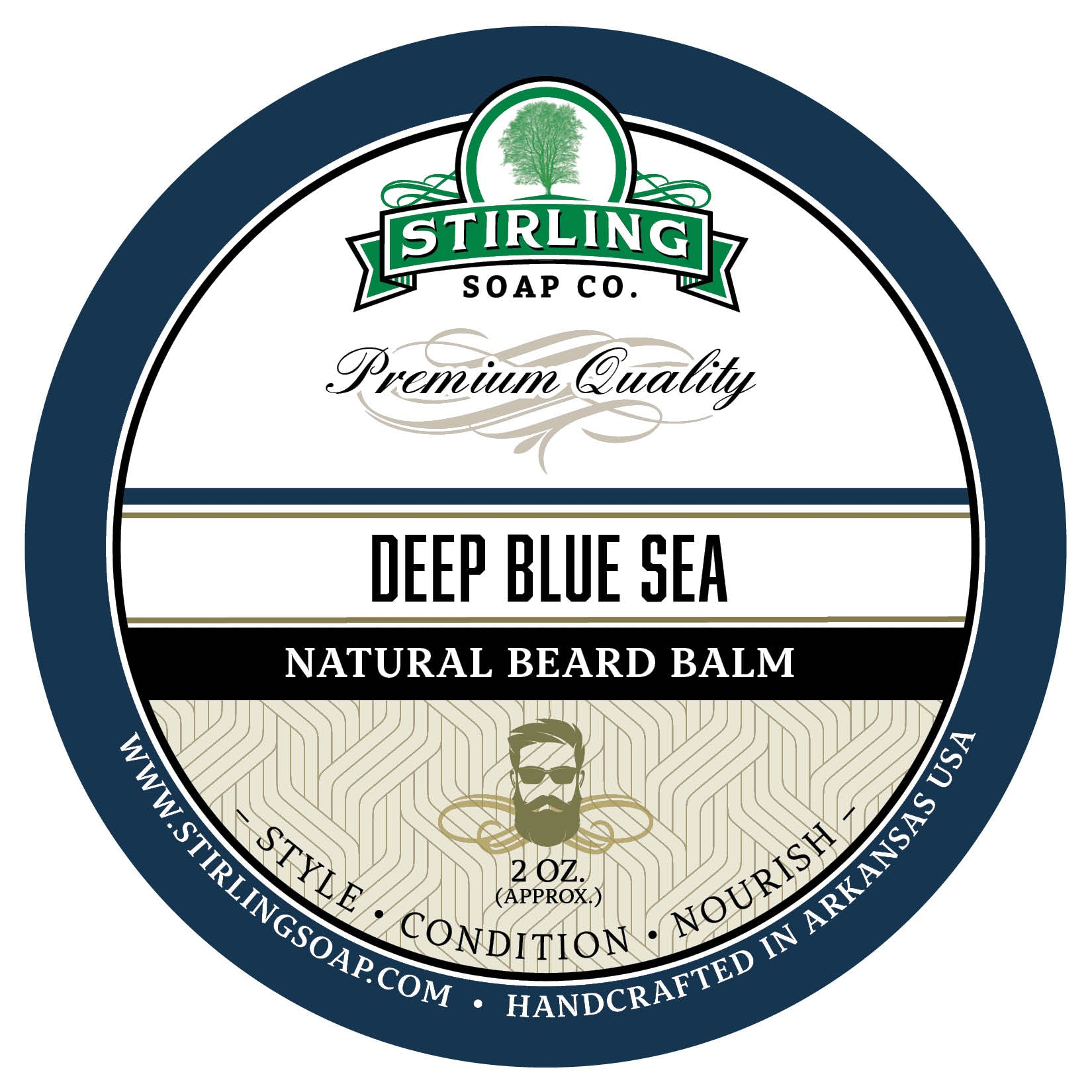 Deep Blue Sea Beard Balm - 2oz