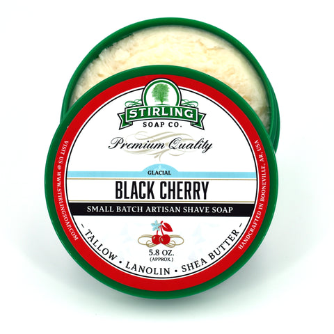 Glacial, Black Cherry - Shave Soap (Jar Size Only)