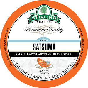 Glacial, Satsuma - Shave Soap (Jar Size Only)