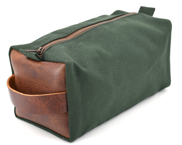 Water-Resistant Canvas/Premium Leather - Dopp Kit