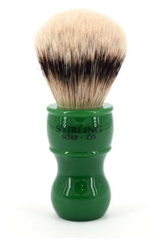 High Mountain White Badger Shave Brush - 24mm x 57mm (Green)