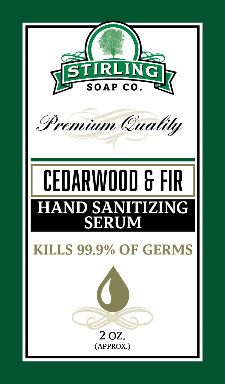 Cedarwood & Fir - Hand Sanitizing Serum (2oz Squeeze Bottle)