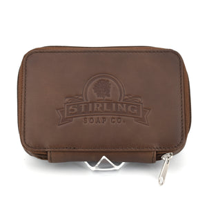 Premium Leather Razor/Blade Case - Milk Chocolate
