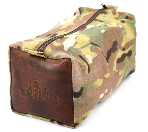 Multicam/Premium Leather - Dopp Kit