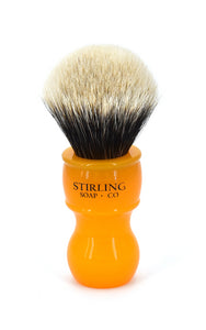 FACTORY SECONDS 2-Band Finest Badger Shave Brush - 24mm x 53mm (Butterscotch)