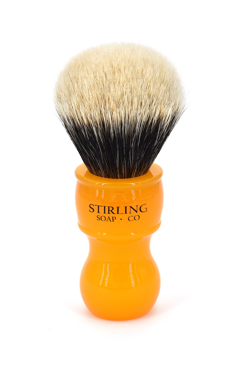 FACTORY SECONDS 2-Band Finest Badger Shave Brush - 24mm x 57mm (Butterscotch)