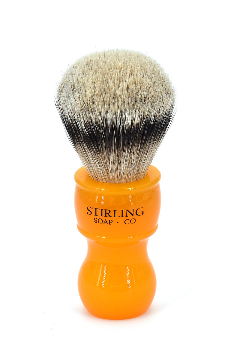 High Mountain White Badger Shave Brush - 24mm x 53mm (Butterscotch)