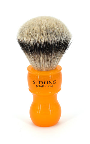 High Mountain White Badger Shave Brush - 24mm x 57mm (Butterscotch)