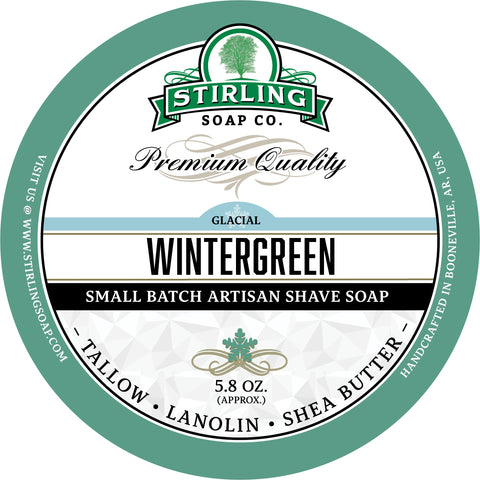 Glacial, Wintergreen - Shave Soap