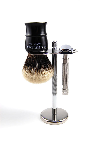 Stainless Razor & Brush Stand