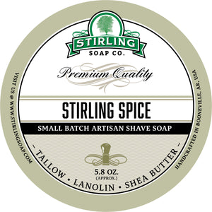 Stirling Spice - Shave Soap SECONDS