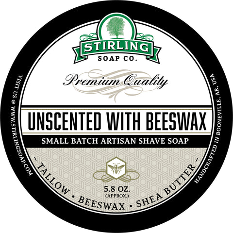 Unscented with Beeswax - Shave Soap