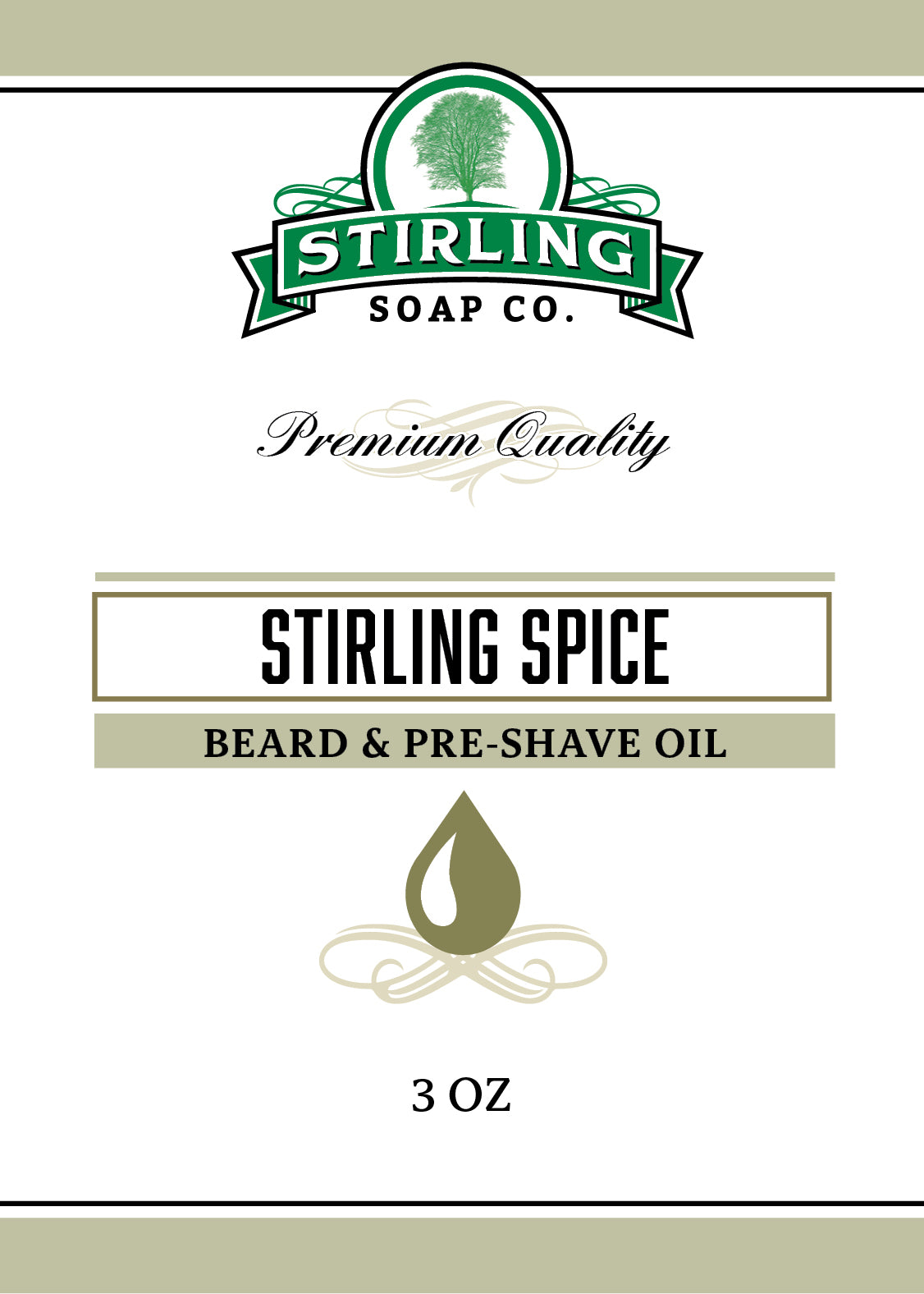 Stirling Spice - Beard & Pre-Shave Oil